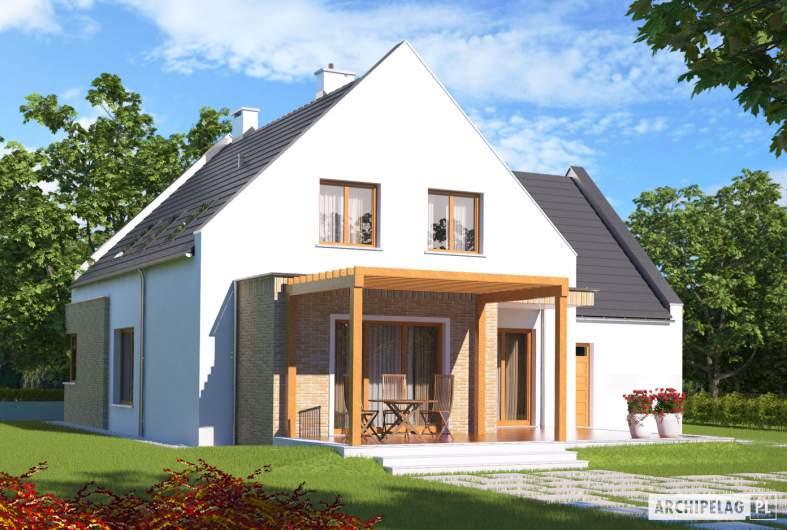 Projekt domu Tymoteusz G1 - wizualizacja ogrodowa