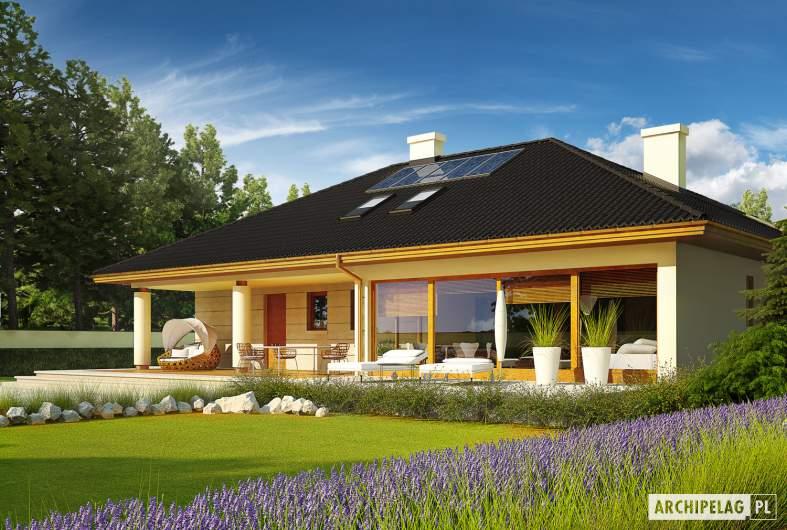 Projekt domu Alan IV G2 - wizualizacja ogrodowa