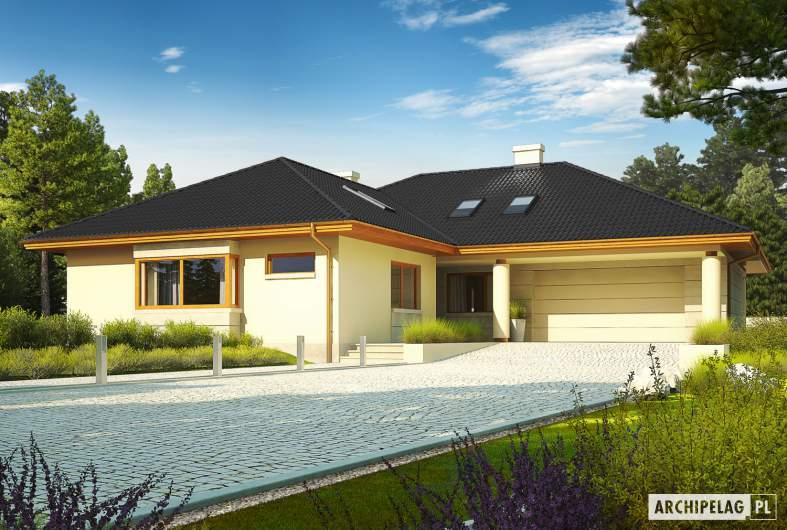 Projekt domu Alan IV G2 - wizualizacja frontowa