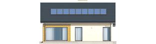 Projekt domu Armando G1 ENERGO - elewacja tylna