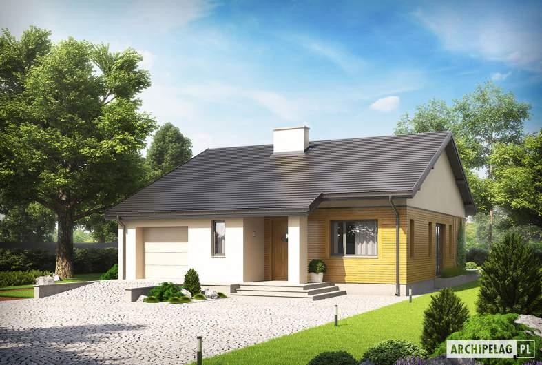 Projekt domu Armando G1 ENERGO - wizualizacja frontowa