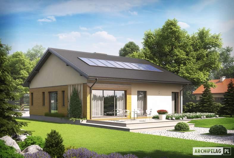 Projekt domu Armando G1 ENERGO - wizualizacja ogrodowa
