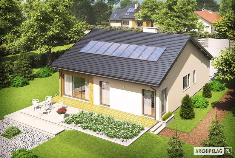 Projekt domu Armando G1 ENERGO - widok z góry