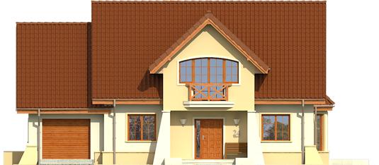 Andrius G1 - Projekty domów ARCHIPELAG - Andrzej G1 - elewacja frontowa
