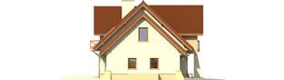 Projekt domu Andrzej G1 - elewacja lewa