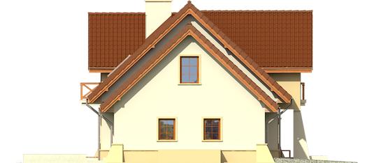 Andrius G1 - Projekty domów ARCHIPELAG - Andrzej G1 - elewacja lewa