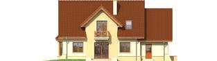 Projekt domu Andrzej G1 - elewacja tylna
