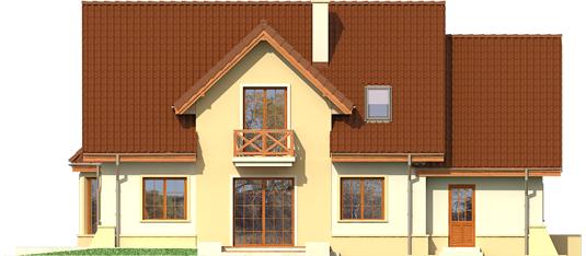 Andrius G1 - Projekty domów ARCHIPELAG - Andrzej G1 - elewacja tylna