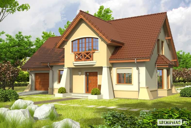 Projekt domu Andrzej G1 - Projekty domów ARCHIPELAG - Andrzej G1 - wizualizacja frontowa