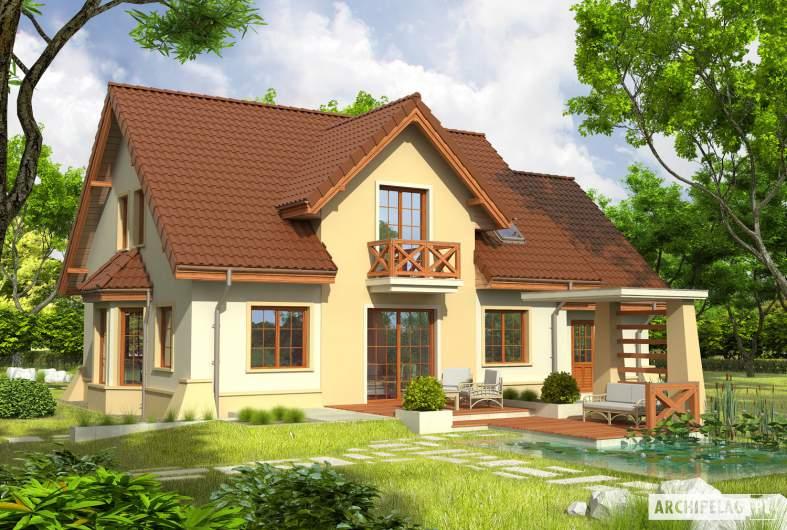 Projekt domu Andrzej G1 - Projekty domów ARCHIPELAG - Andrzej G1 - wizualizacja ogrodowa