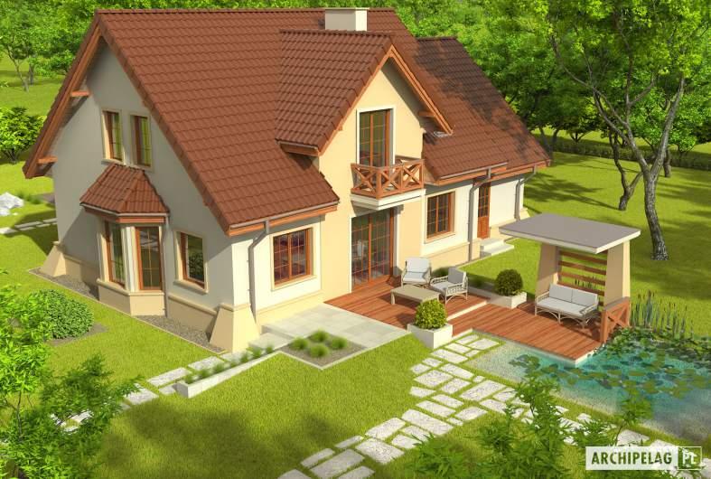 Projekt domu Andrzej G1 - Projekty domów ARCHIPELAG - Andrzej G1 - widok z góry
