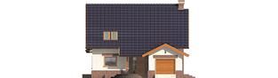Projekt domu Nastka G1 (z piwnicą) - elewacja frontowa