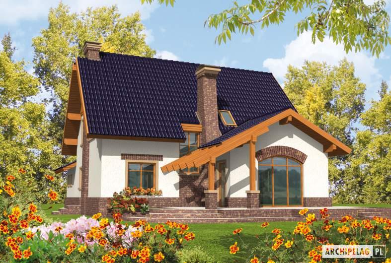 Projekt domu Nastka G1 (z piwnicą) - wizualizacja ogrodowa