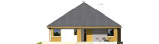 Projekt domu Glen III - elewacja frontowa