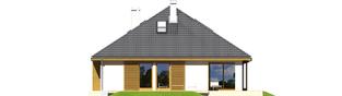 Projekt domu Glen III - elewacja tylna
