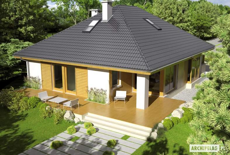 Projekt domu Glen III - widok z góry