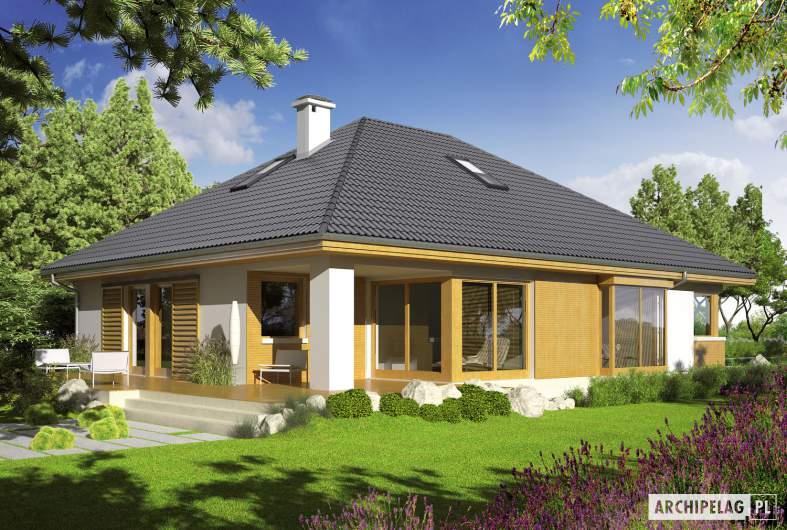 Projekt domu Glen III - wizualizacja ogrodowa