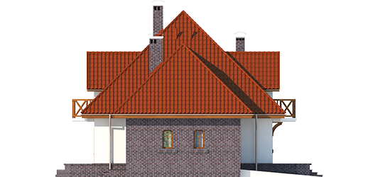Grande G1 - Projekt domu Grande G1 - elewacja lewa