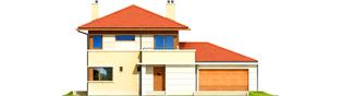 Projekt domu Rodrigo G2 MULTI-COMFORT - elewacja frontowa