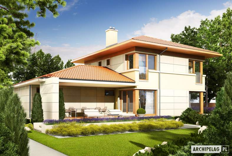 Projekt domu Rodrigo G2 MULTI-COMFORT - wizualizacja ogrodowa