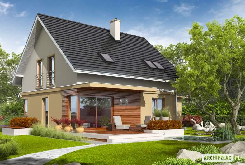 Projekt domu Jurek II G1 - wizualizacja ogrodowa