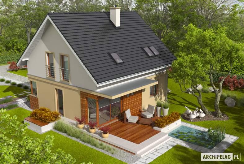 Projekt domu Jurek II G1 - widok z góry