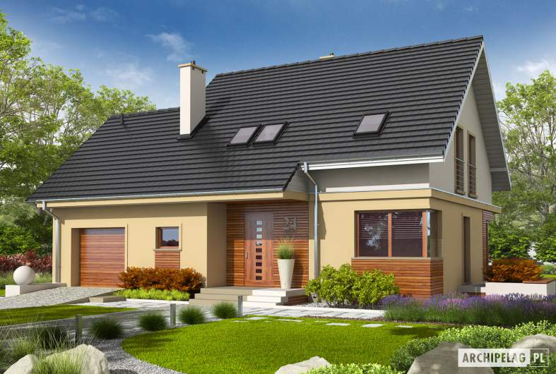 Projekt domu Jurek II G1 - wizualizacja frontowa