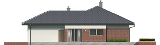 Projekt domu Dominik G2 (wersja B) MULTI-COMFORT - elewacja prawa
