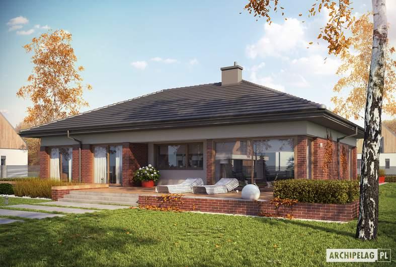Projekt domu Dominik G2 (wersja B) MULTI-COMFORT - wizualizacja ogrodowa
