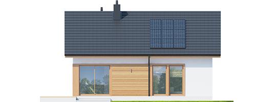 Elmo ENERGO - Projekt domu Elmo ECONOMIC - elewacja tylna