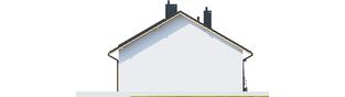 Projekt domu Elmo ECONOMIC - elewacja lewa