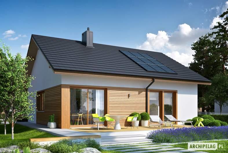 Projekt domu Elmo ECONOMIC - wizualizacja ogrodowa