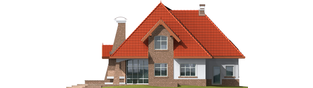 Projekt domu Melania G1 - elewacja tylna