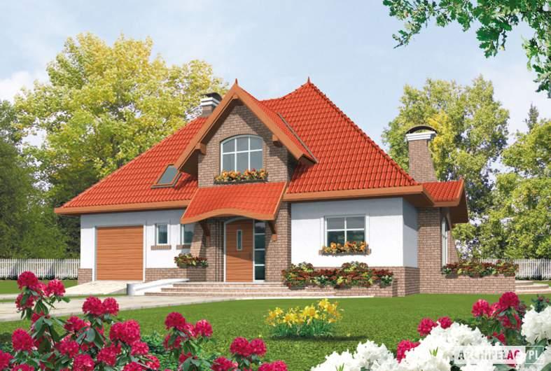 Projekt domu Melania G1 - wizualizacja frontowa
