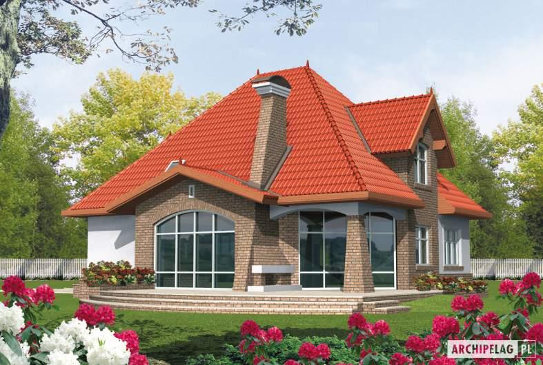 Projekt domu Melania G1 - wizualizacja ogrodowa