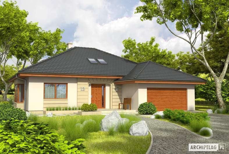 Projekt domu Kornelia III G2 - wizualizacja frontowa