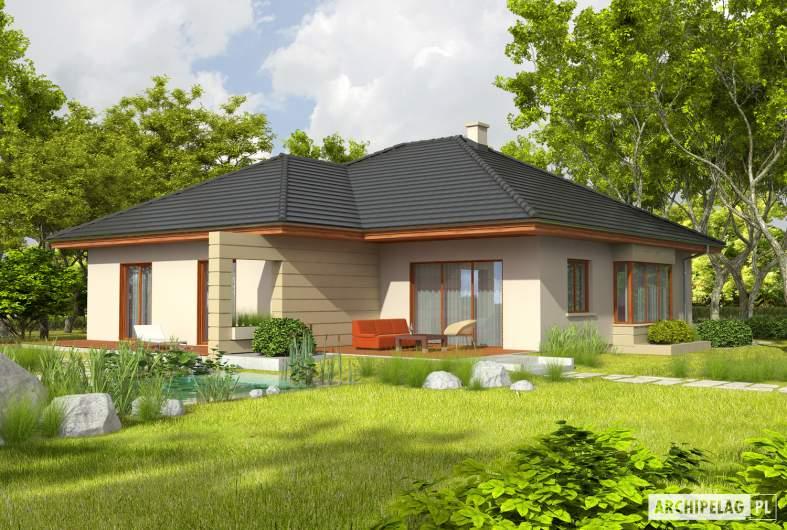 Projekt domu Kornelia III G2 - wizualizacja ogrodowa