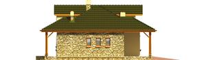Projekt domu Milenka G1 - elewacja lewa