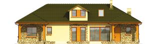 Projekt domu Milenka G1 - elewacja tylna