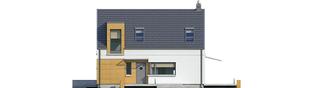 Projekt domu E10 ENERGO PLUS - elewacja frontowa