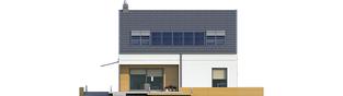 Projekt domu E10 ENERGO PLUS - elewacja tylna