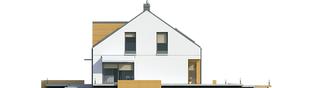 Projekt domu E10 ENERGO PLUS - elewacja prawa