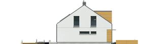 Projekt domu E10 ENERGO PLUS - elewacja lewa