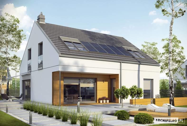 Projekt domu E10 ENERGO PLUS - wizualizacja ogrodowa