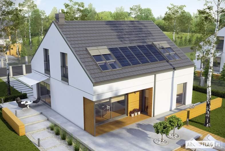 Projekt domu E10 ENERGO PLUS - widok z góry