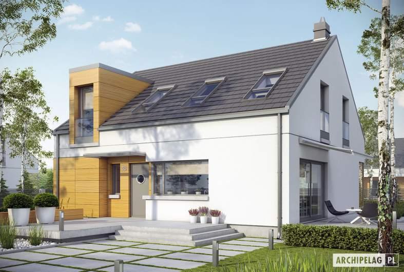 Projekt domu E10 ENERGO PLUS - wizualizacja frontowa