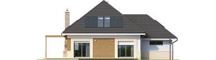 Projekt domu Niki G1 (wersja A) ENERGO - elewacja tylna