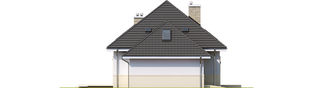 Projekt domu Niki G1 (wersja A) ENERGO - elewacja lewa