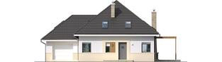 Projekt domu Niki G1 (wersja A) ENERGO - elewacja frontowa