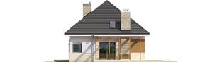 Projekt domu Niki G1 (wersja A) ENERGO - elewacja prawa